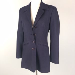 Vintage | Dark Purple Plum Long Fitted Blazer
